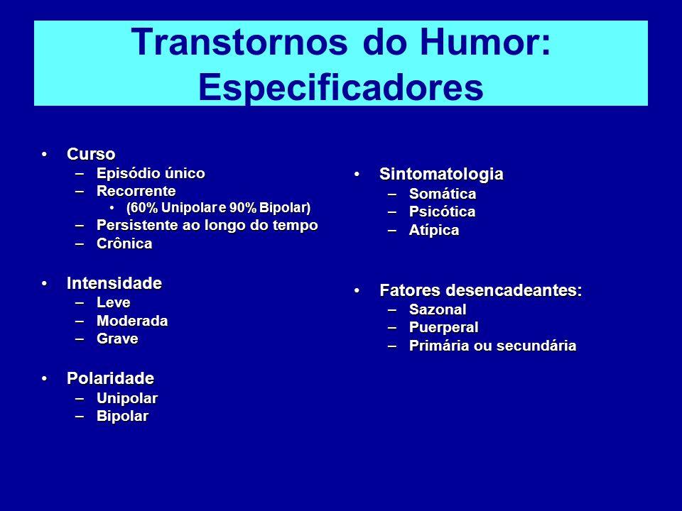 Transtornos do Humor: Especificadores