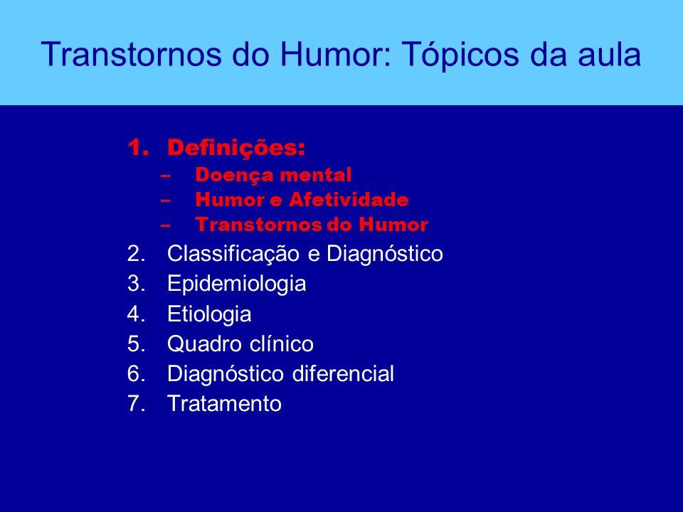 Transtornos do Humor: Tópicos da aula