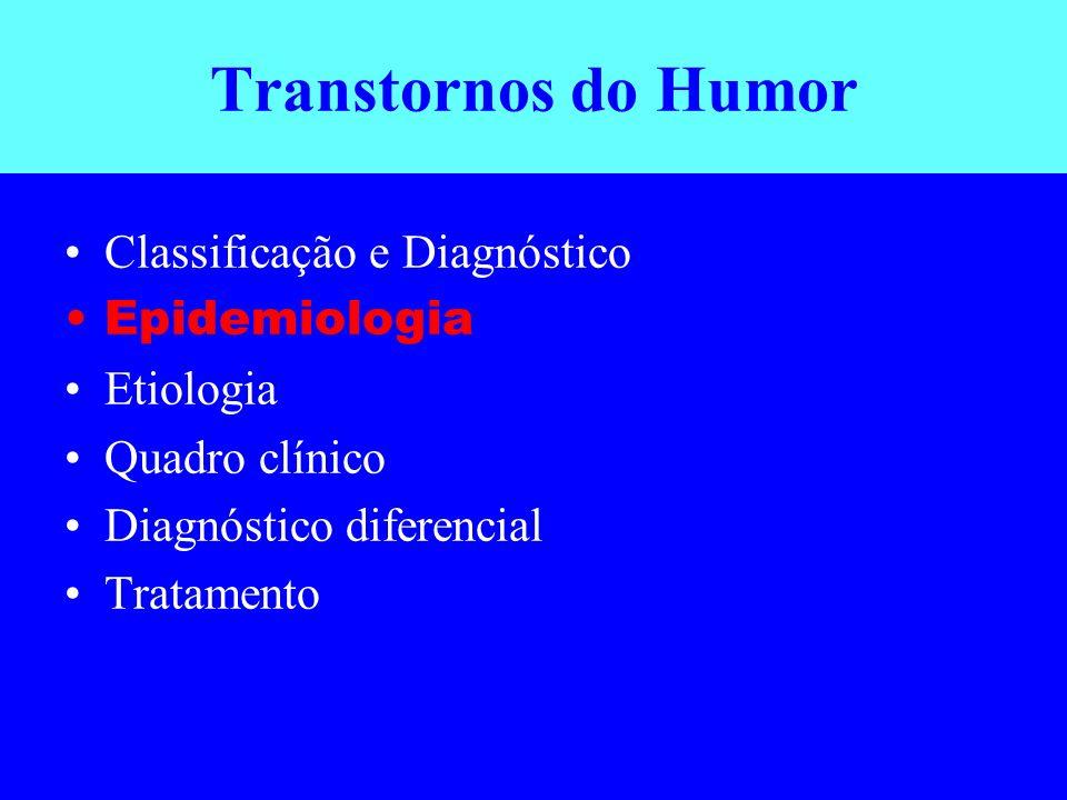 Transtornos do Humor Classificação e Diagnóstico Epidemiologia