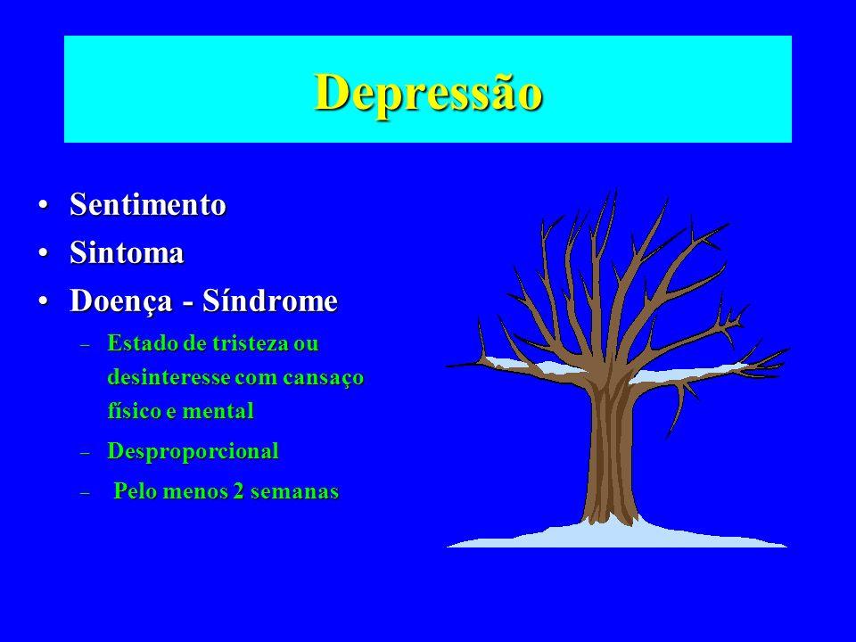 Depressão Sentimento Sintoma Doença - Síndrome