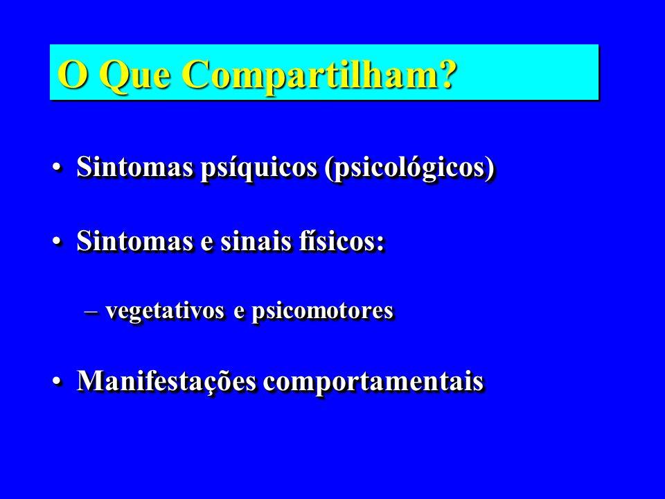 O Que Compartilham Sintomas psíquicos (psicológicos)