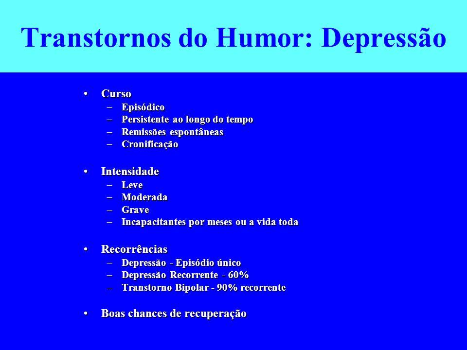 Transtornos do Humor: Depressão