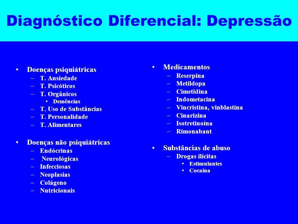 Diagnóstico Diferencial: Depressão