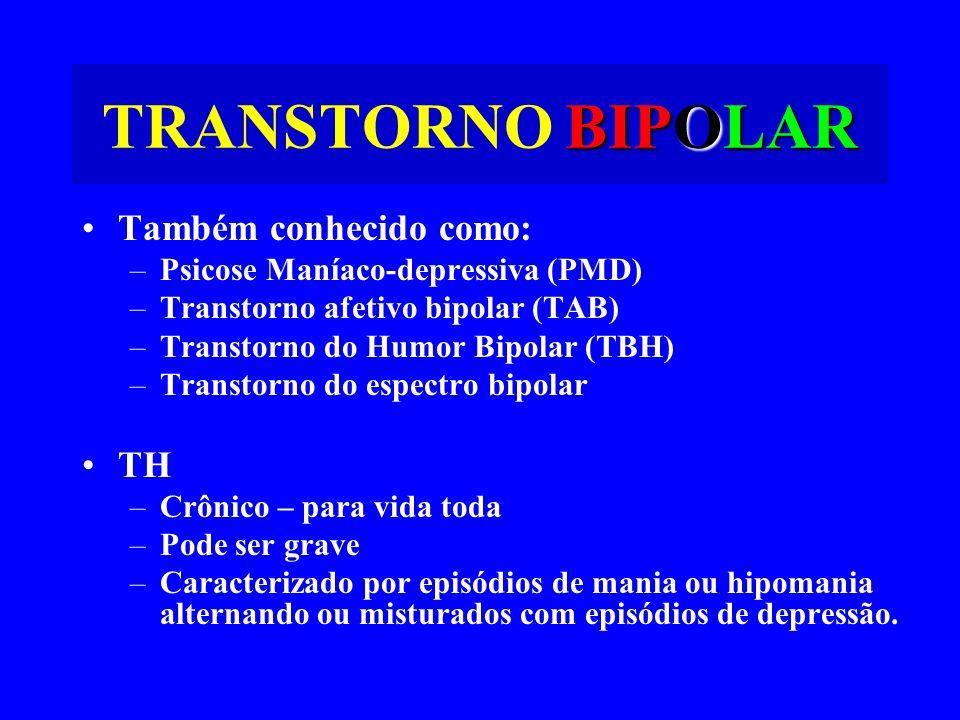 TRANSTORNO BIPOLAR Também conhecido como: TH