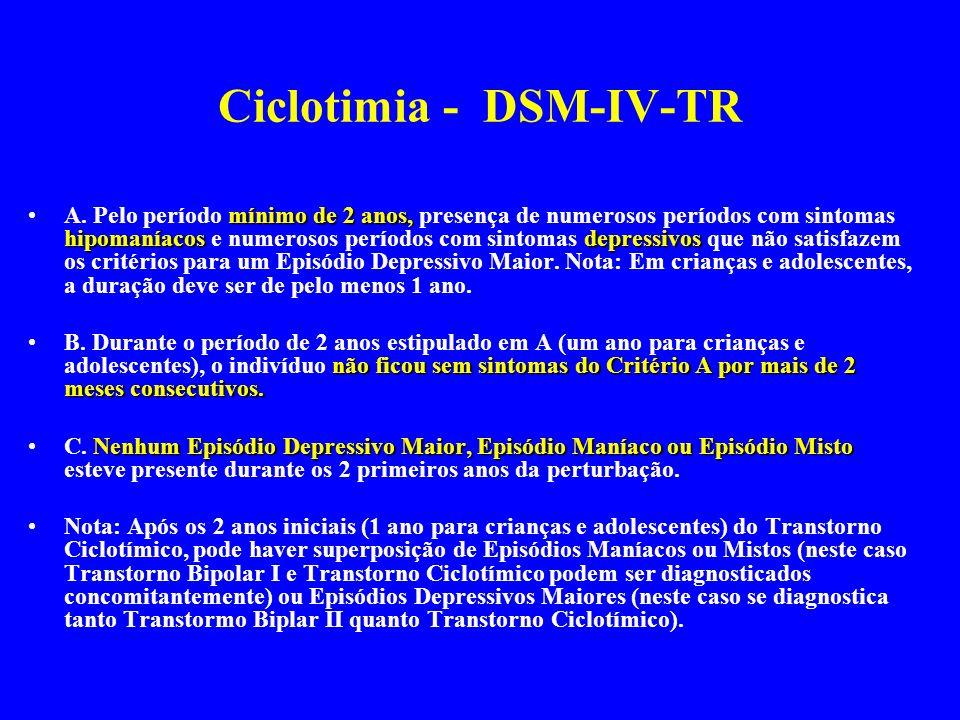Ciclotimia - DSM-IV-TR