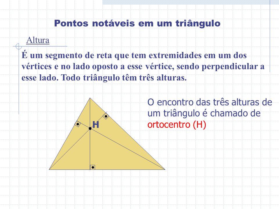 Pontos notáveis em um triângulo