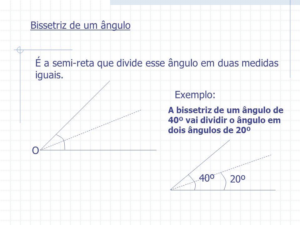 É a semi-reta que divide esse ângulo em duas medidas iguais.