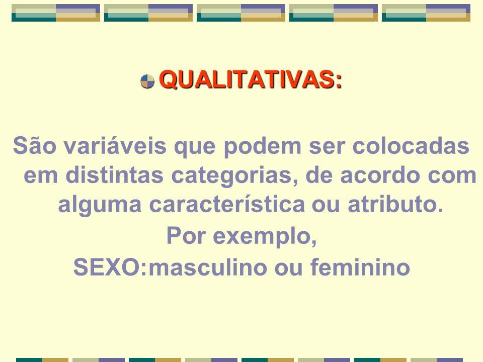 SEXO:masculino ou feminino