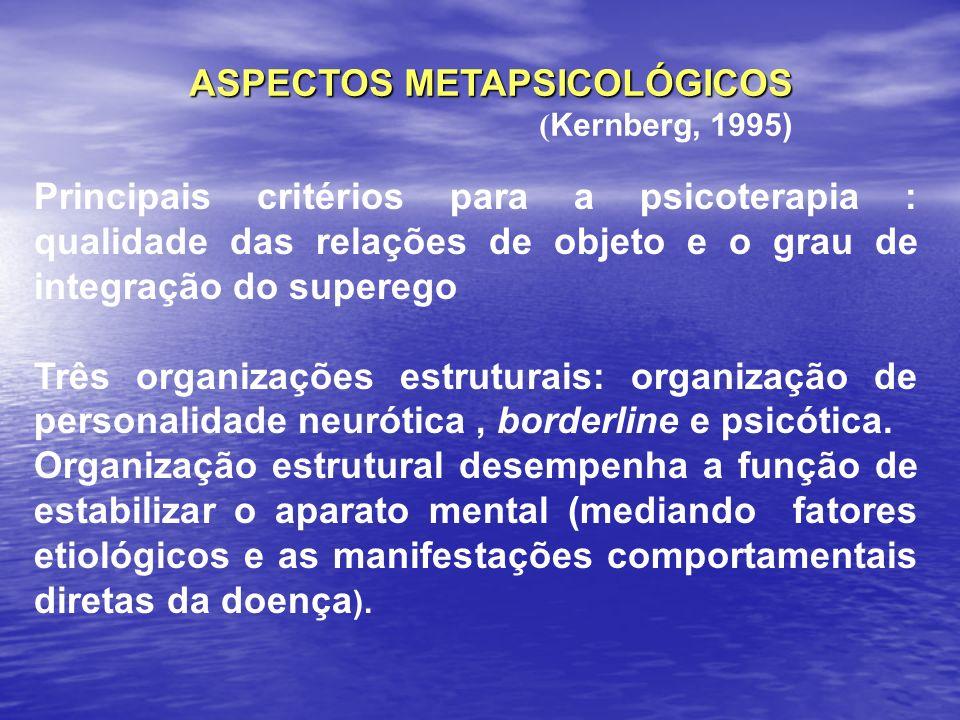 ASPECTOS METAPSICOLÓGICOS