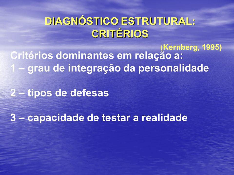DIAGNÓSTICO ESTRUTURAL: CRITÉRIOS