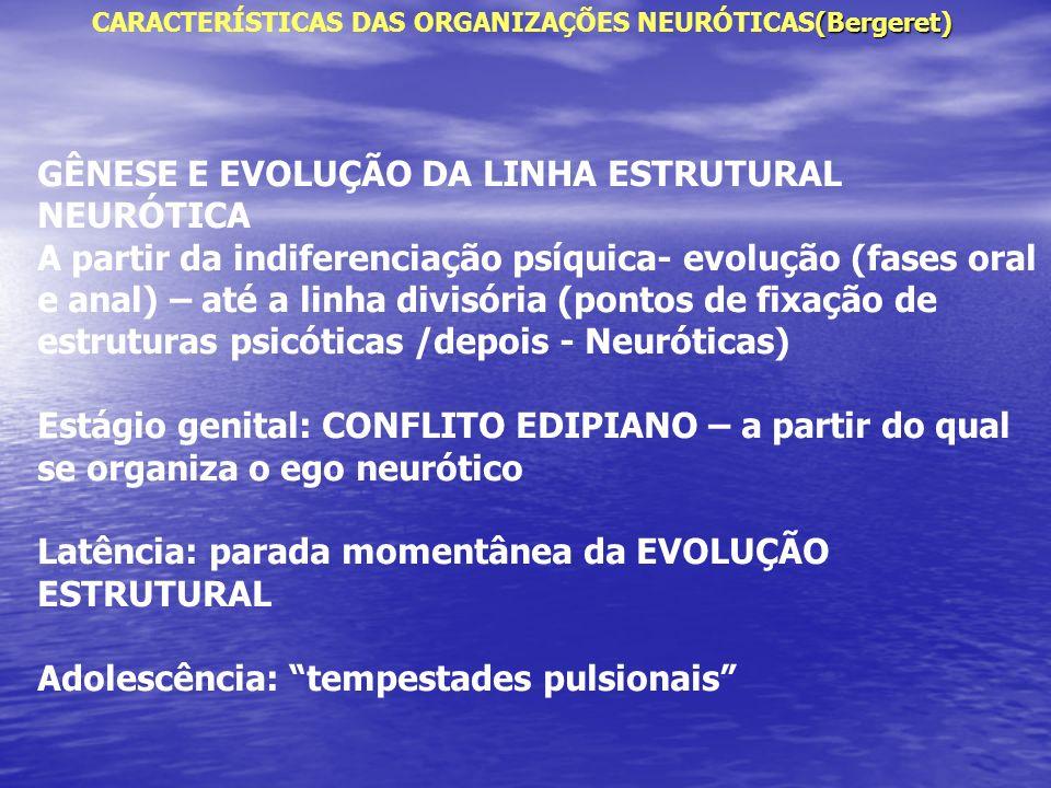 GÊNESE E EVOLUÇÃO DA LINHA ESTRUTURAL NEURÓTICA