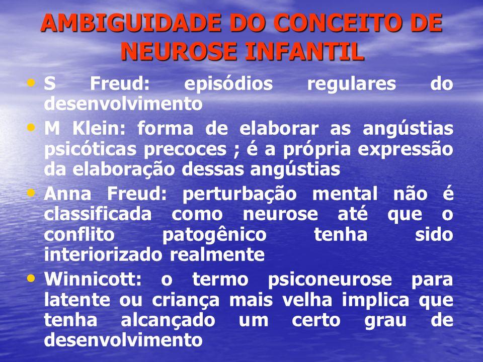 AMBIGUIDADE DO CONCEITO DE NEUROSE INFANTIL