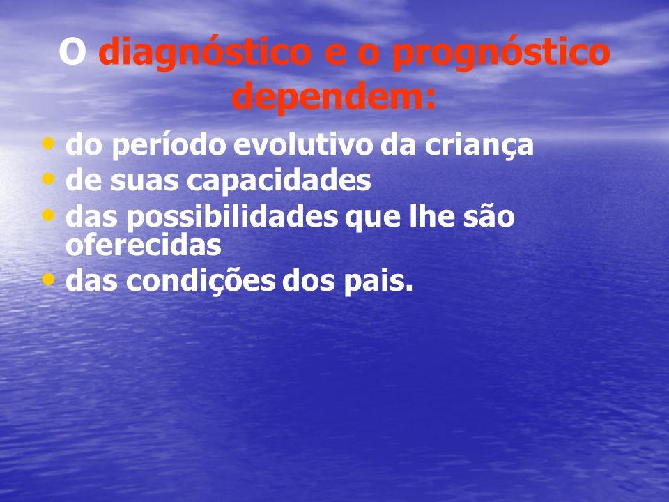 O diagnóstico e o prognóstico dependem: