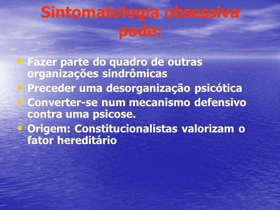 Sintomatologia obsessiva pode:
