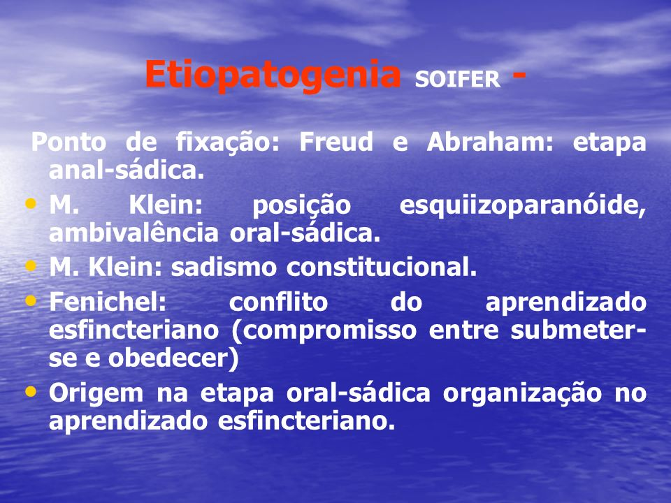 Etiopatogenia SOIFER -