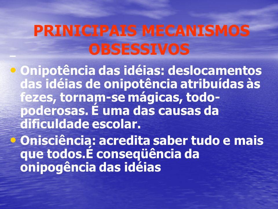 PRINICIPAIS MECANISMOS OBSESSIVOS