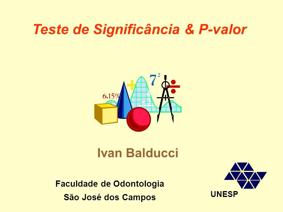 Teste de Significância & P-valor Faculdade de Odontologia