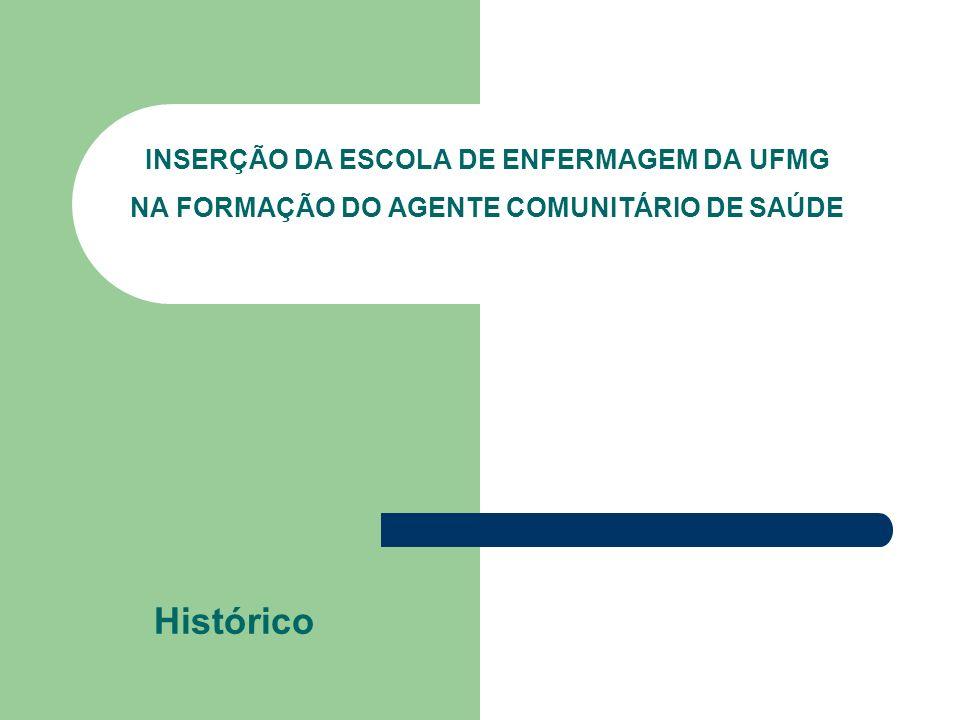 INSERÇÃO DA ESCOLA DE ENFERMAGEM DA UFMG NA FORMAÇÃO DO AGENTE COMUNITÁRIO DE SAÚDE