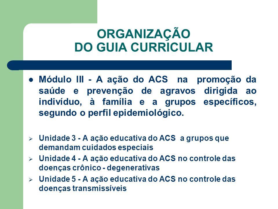 ORGANIZAÇÃO DO GUIA CURRICULAR