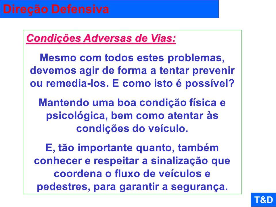 Direção Defensiva Condições Adversas de Vias: