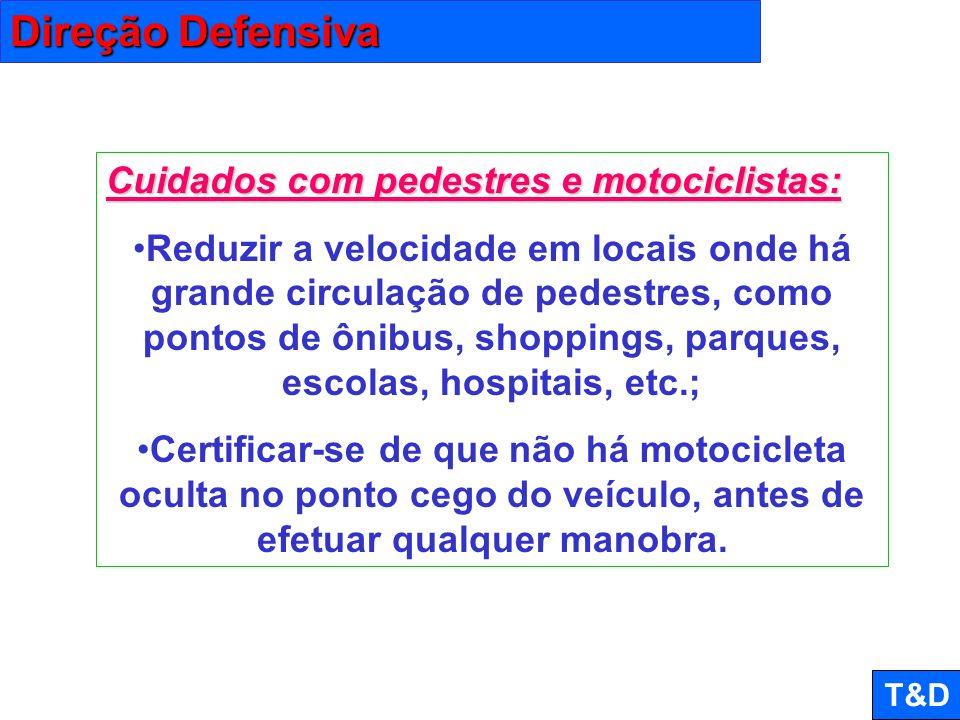Direção Defensiva Cuidados com pedestres e motociclistas:
