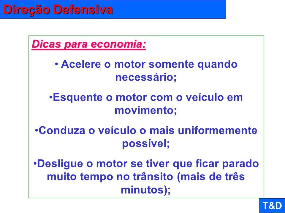 Direção Defensiva Dicas para economia:
