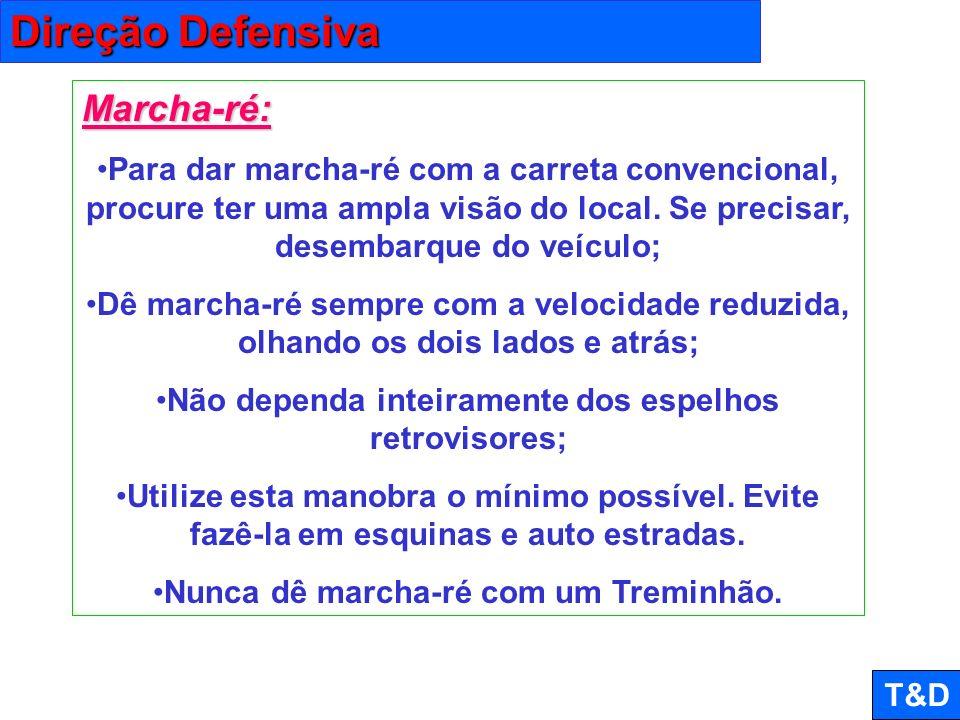Direção Defensiva Marcha-ré: