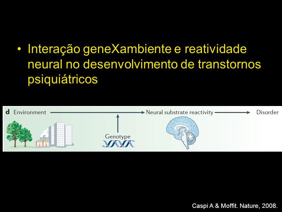 Interação geneXambiente e reatividade neural no desenvolvimento de transtornos psiquiátricos