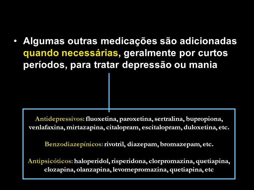 Benzodiazepínicos: rivotril, diazepam, bromazepam, etc.