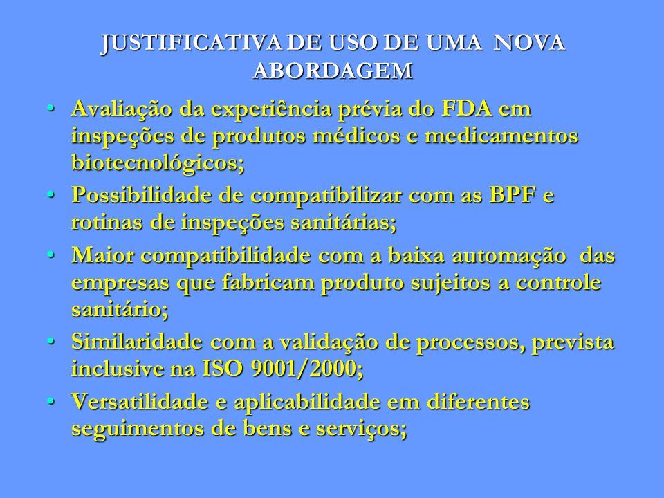 JUSTIFICATIVA DE USO DE UMA NOVA ABORDAGEM