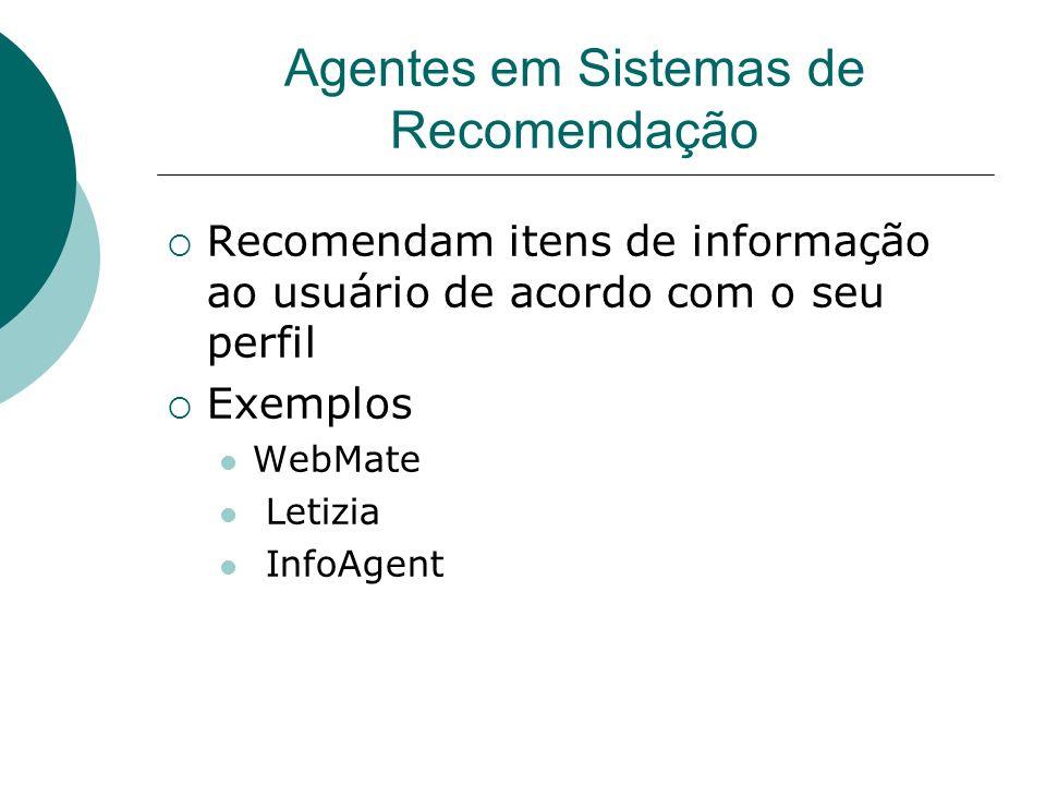 Agentes em Sistemas de Recomendação