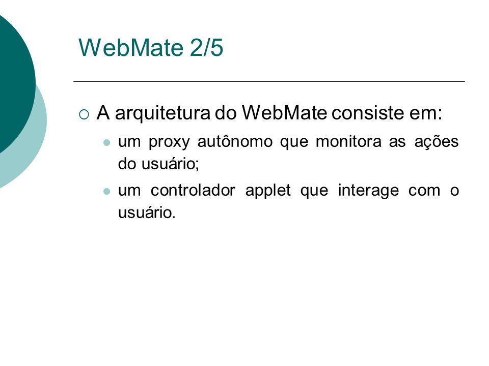 WebMate 2/5 A arquitetura do WebMate consiste em: