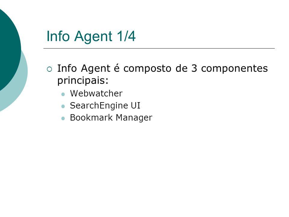 Info Agent 1/4 Info Agent é composto de 3 componentes principais: