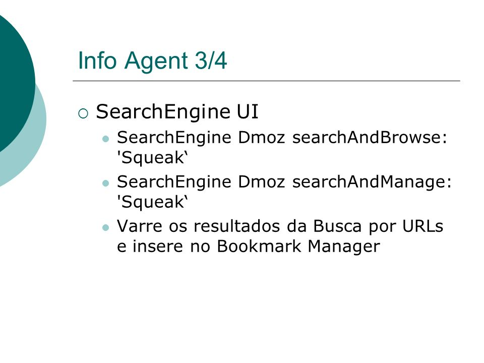Info Agent 3/4 SearchEngine UI