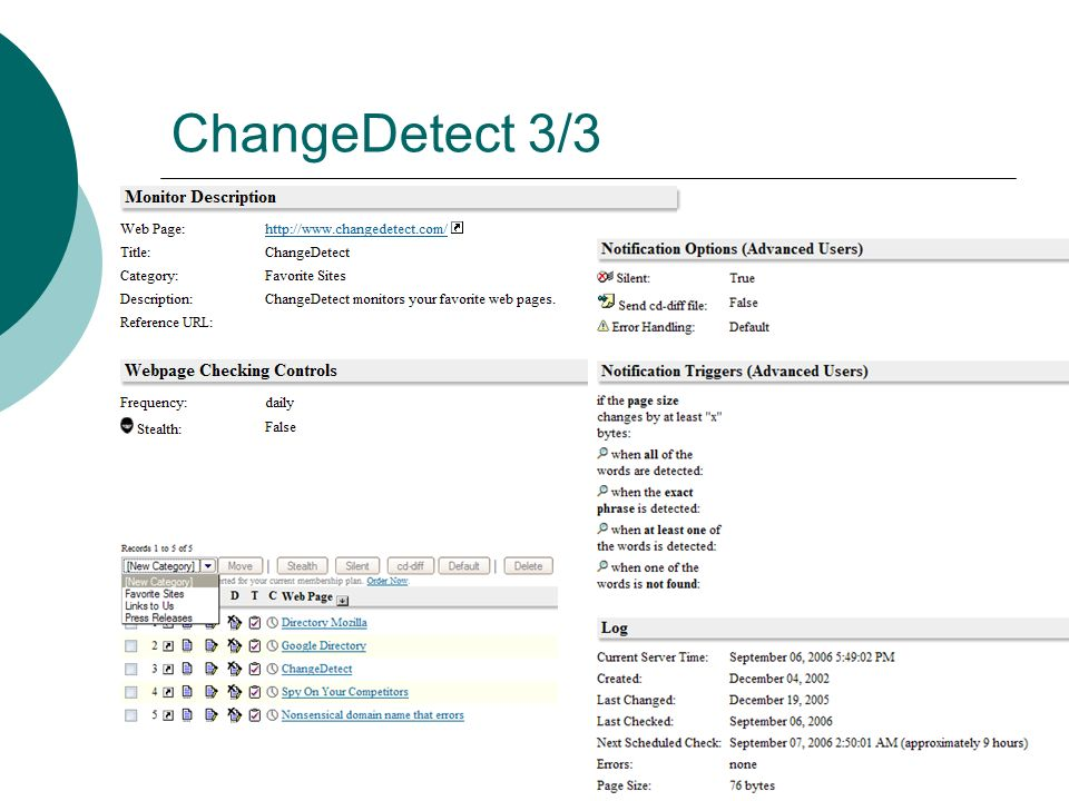 ChangeDetect 3/3