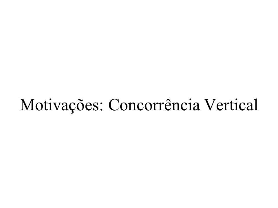 Motivações: Concorrência Vertical