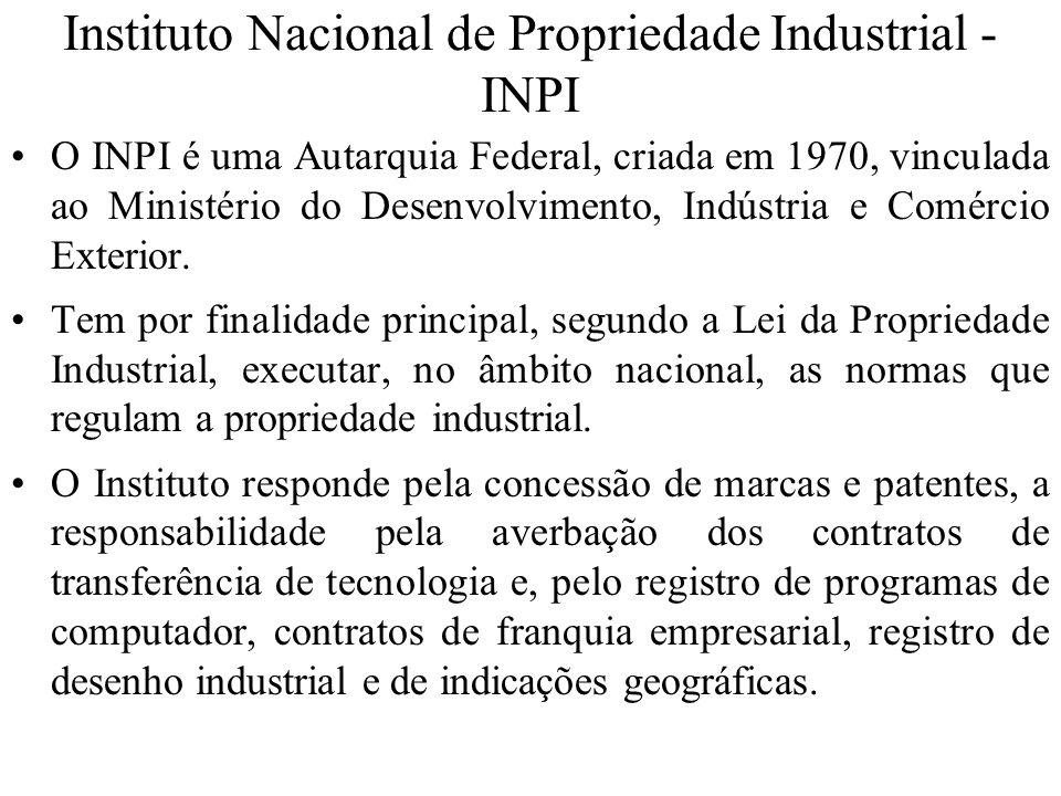 Instituto Nacional de Propriedade Industrial - INPI
