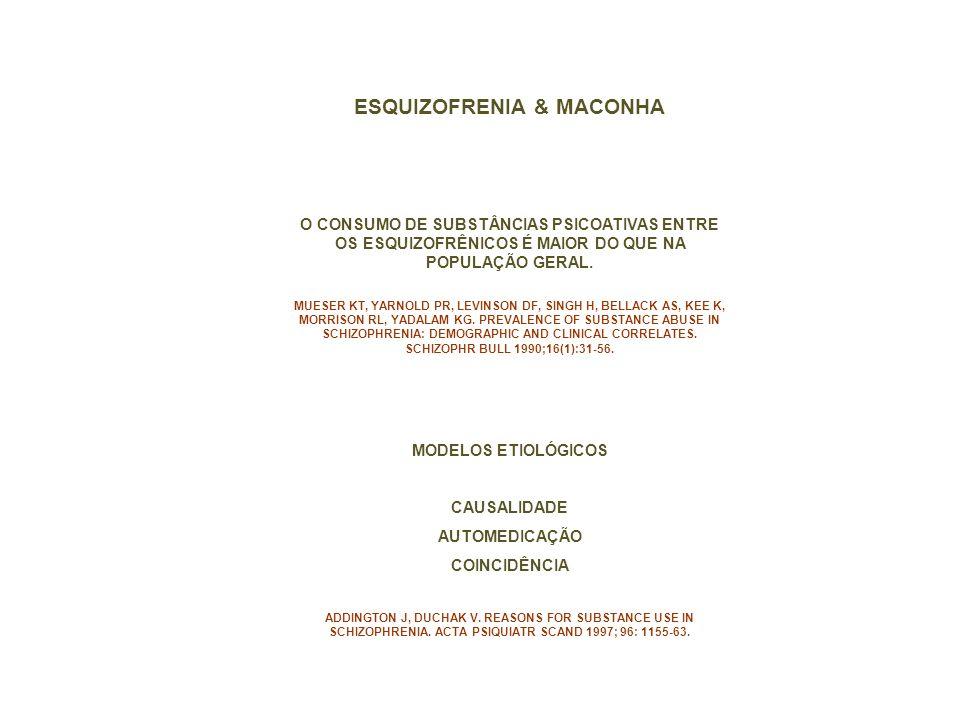 ESQUIZOFRENIA & MACONHA