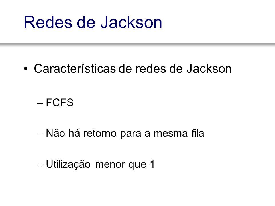 Redes de Jackson Características de redes de Jackson FCFS