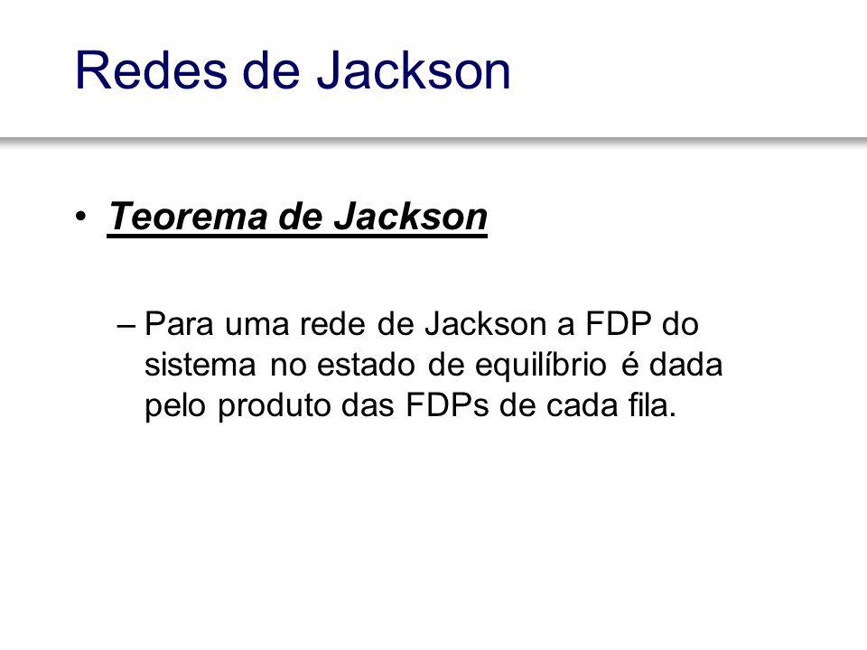 Redes de Jackson Teorema de Jackson