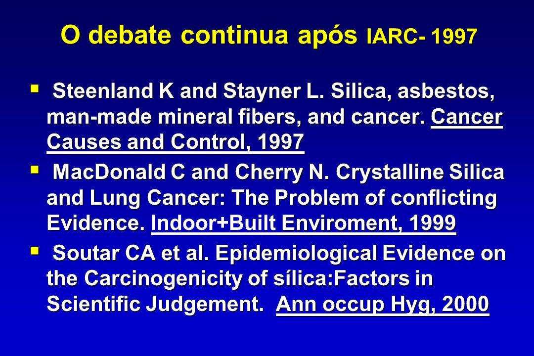 O debate continua após IARC- 1997