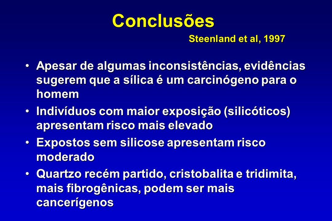 Conclusões Steenland et al, 1997