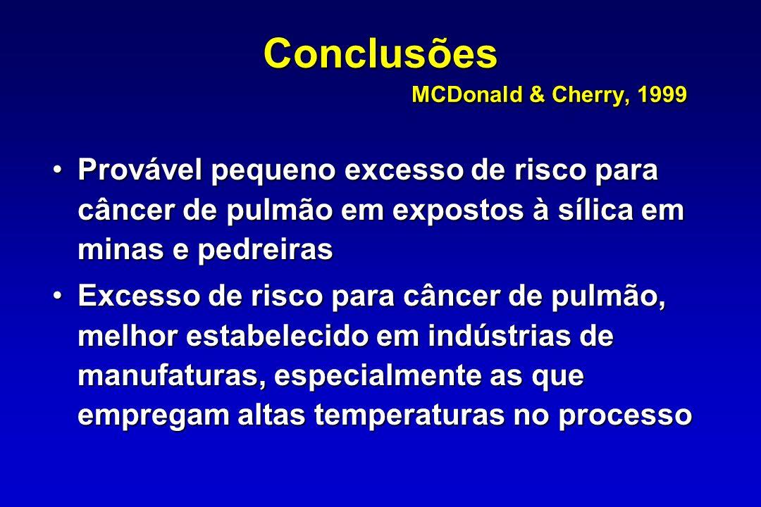 Conclusões MCDonald & Cherry, 1999