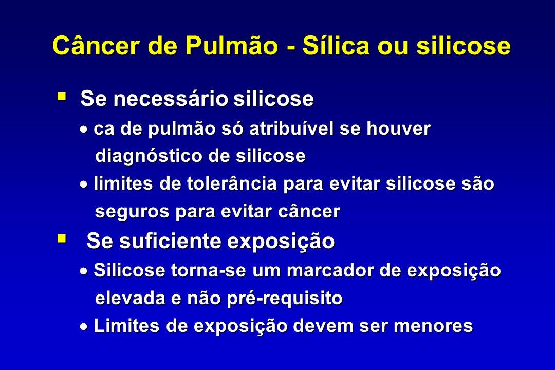 Câncer de Pulmão - Sílica ou silicose