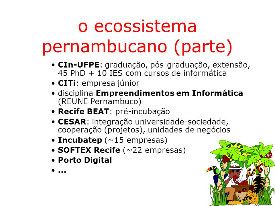 o ecossistema pernambucano (parte)