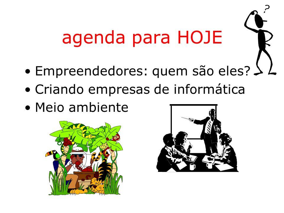 agenda para HOJE Empreendedores: quem são eles