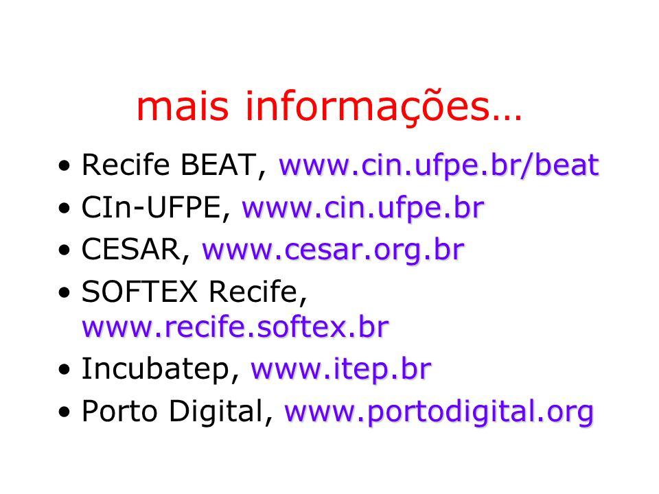 mais informações… Recife BEAT, www.cin.ufpe.br/beat