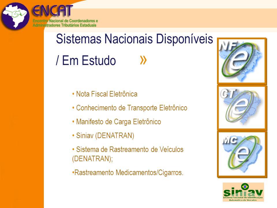 Sistemas Nacionais Disponíveis / Em Estudo »