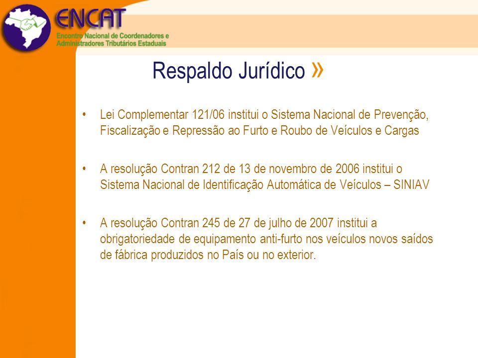 Respaldo Jurídico » Lei Complementar 121/06 institui o Sistema Nacional de Prevenção, Fiscalização e Repressão ao Furto e Roubo de Veículos e Cargas.