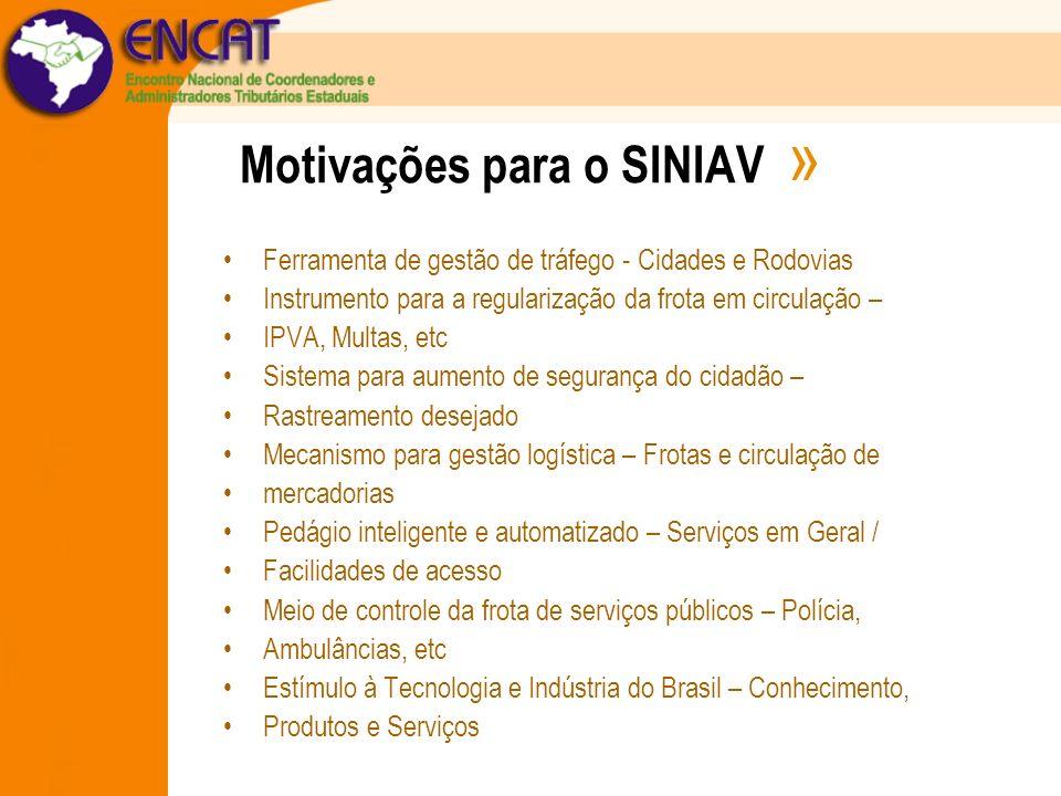 Motivações para o SINIAV »